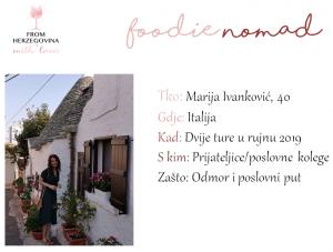 FOODIE NOMAD: Marija Ivanković